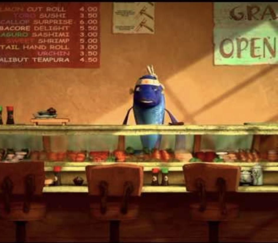 Today I realized that in Shark Tale, the sushi restaurant was empty because that was cannibalism.