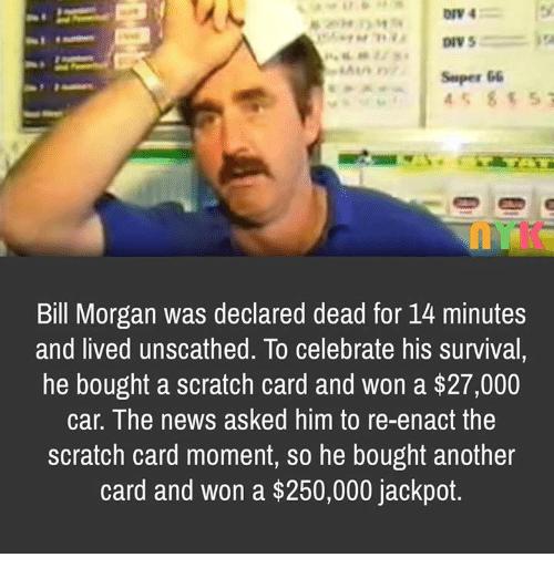 Bills a lucky guy.