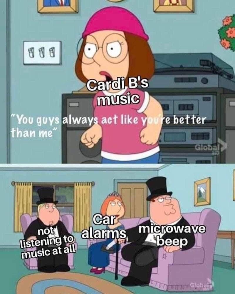 "Cardi B's music has a certain ""quality"""