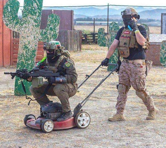 Lawn mowing special forces