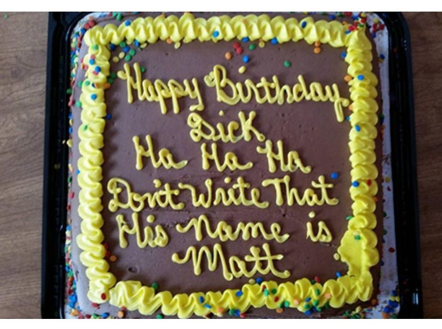 Happy birthday to Dick.. Matt...