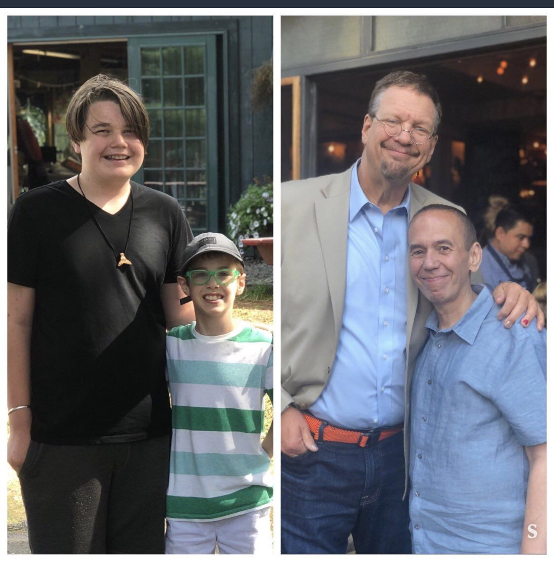 Gilbert Gottfried's son and Penn Jillette's son are friends. Guess which one is which.