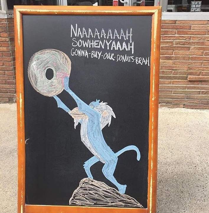And the award for best donut shop ad goes to.....