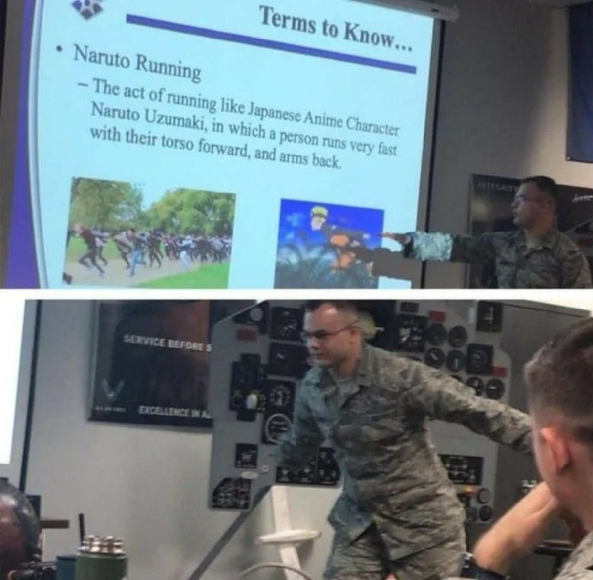 The military explaining memes be like