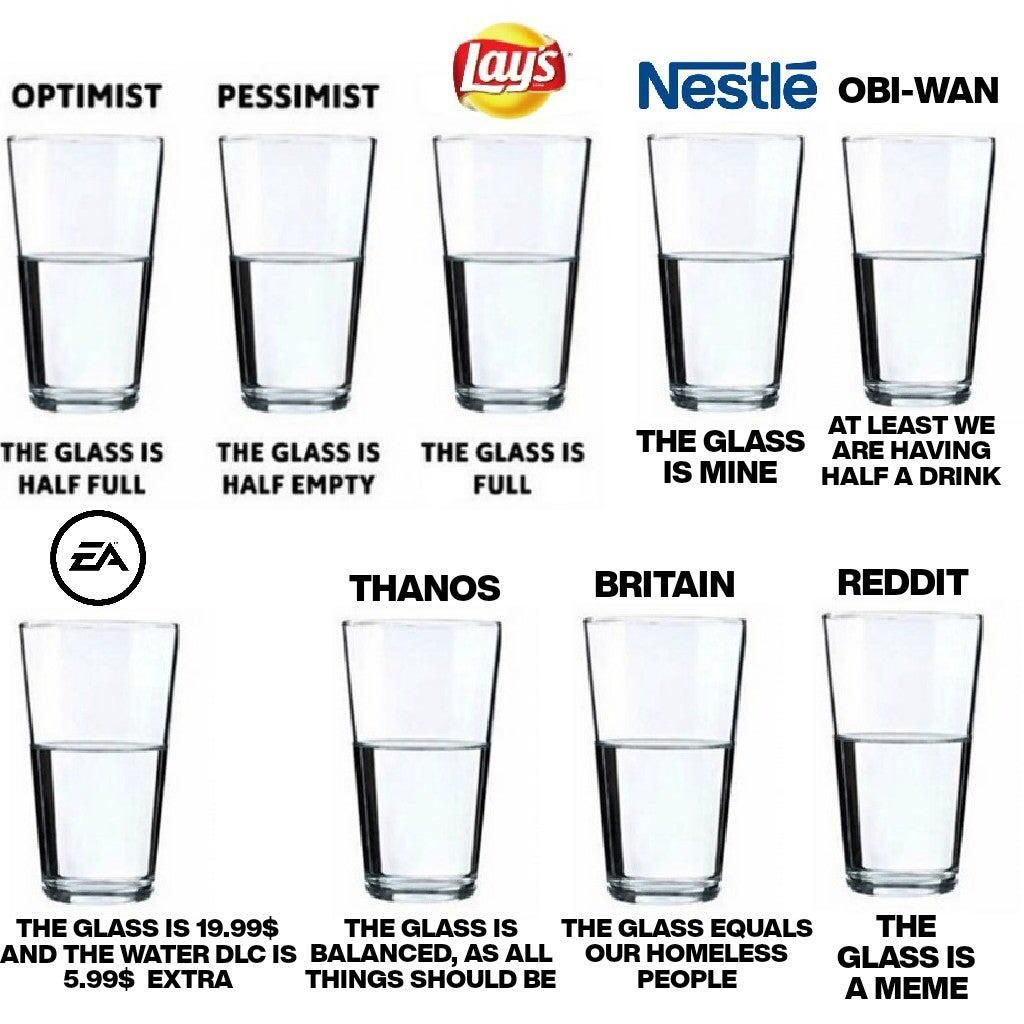 The glass!