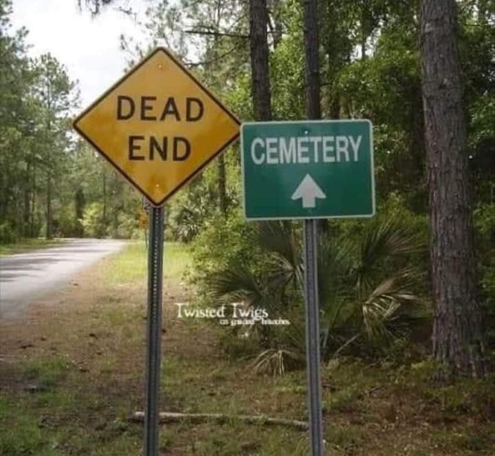 Grave humor.