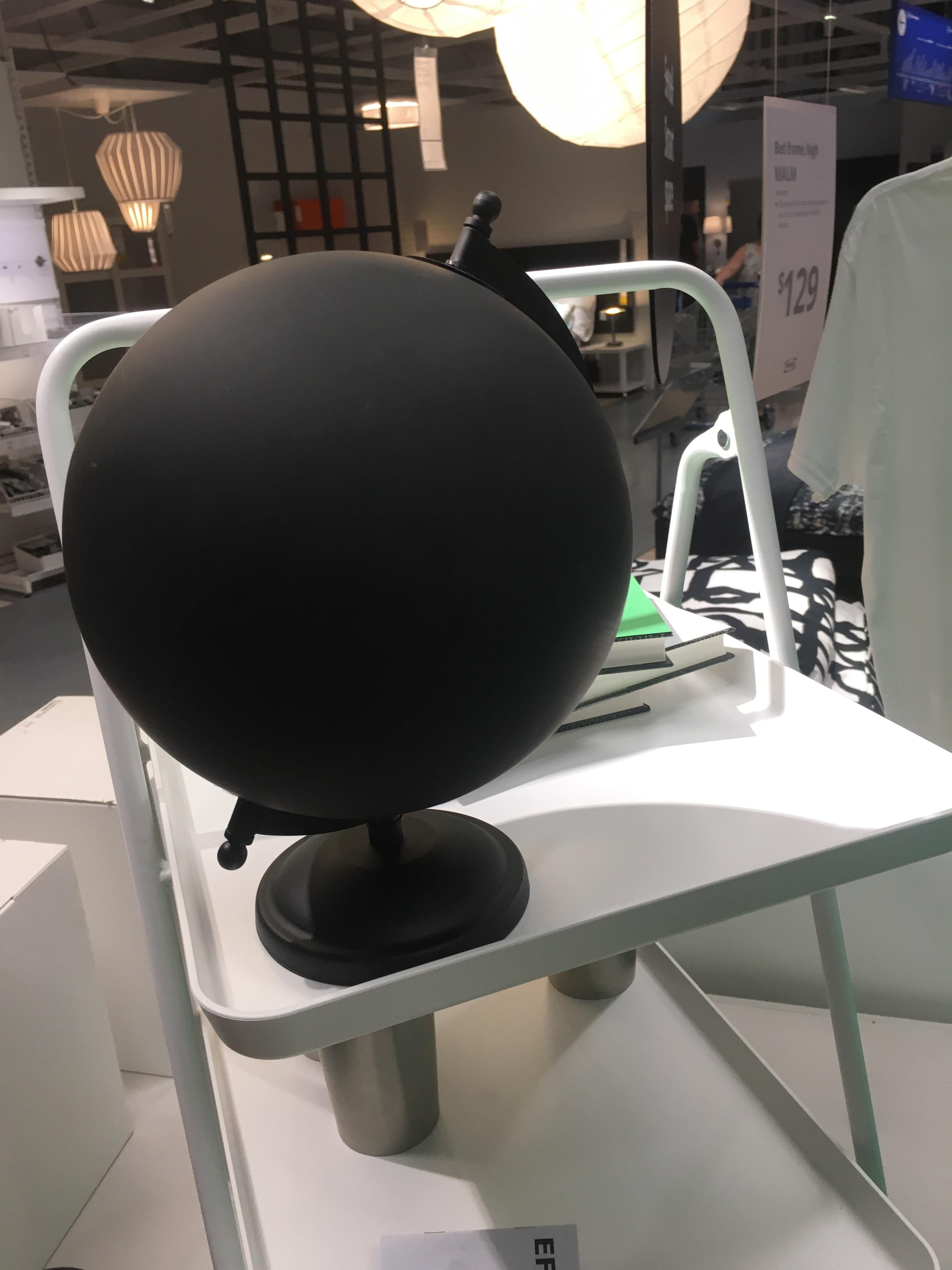 Just found out that IKEA carries a globe of the Earth's surface in 2050.