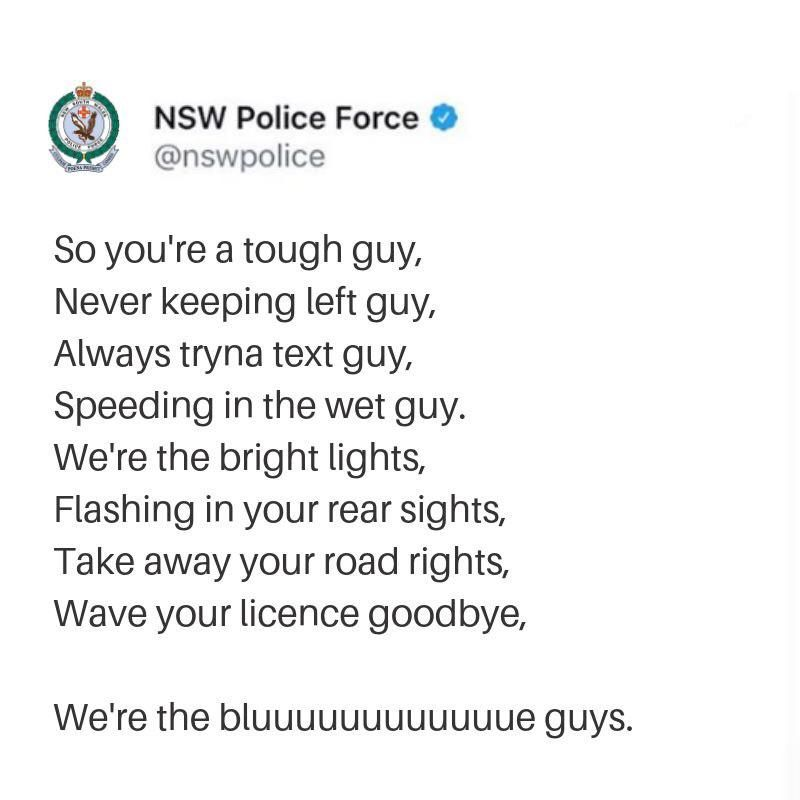 NSW cops really are tops
