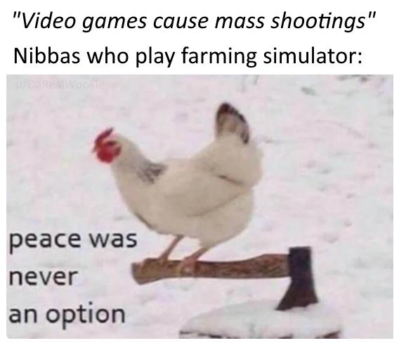 No more peace.