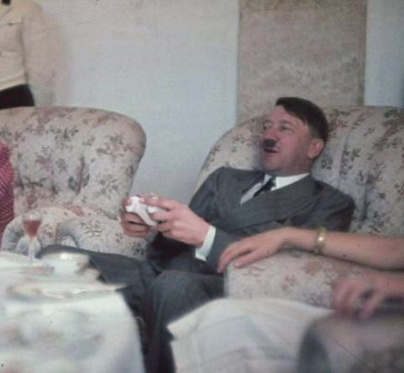 The moment Hitler picked up his first video game controller and became obsessed with killing