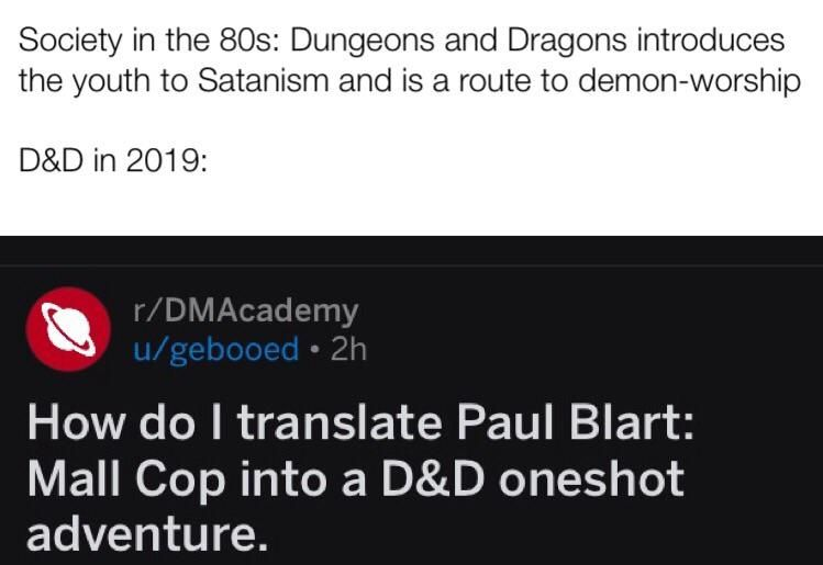 D&D is the devil