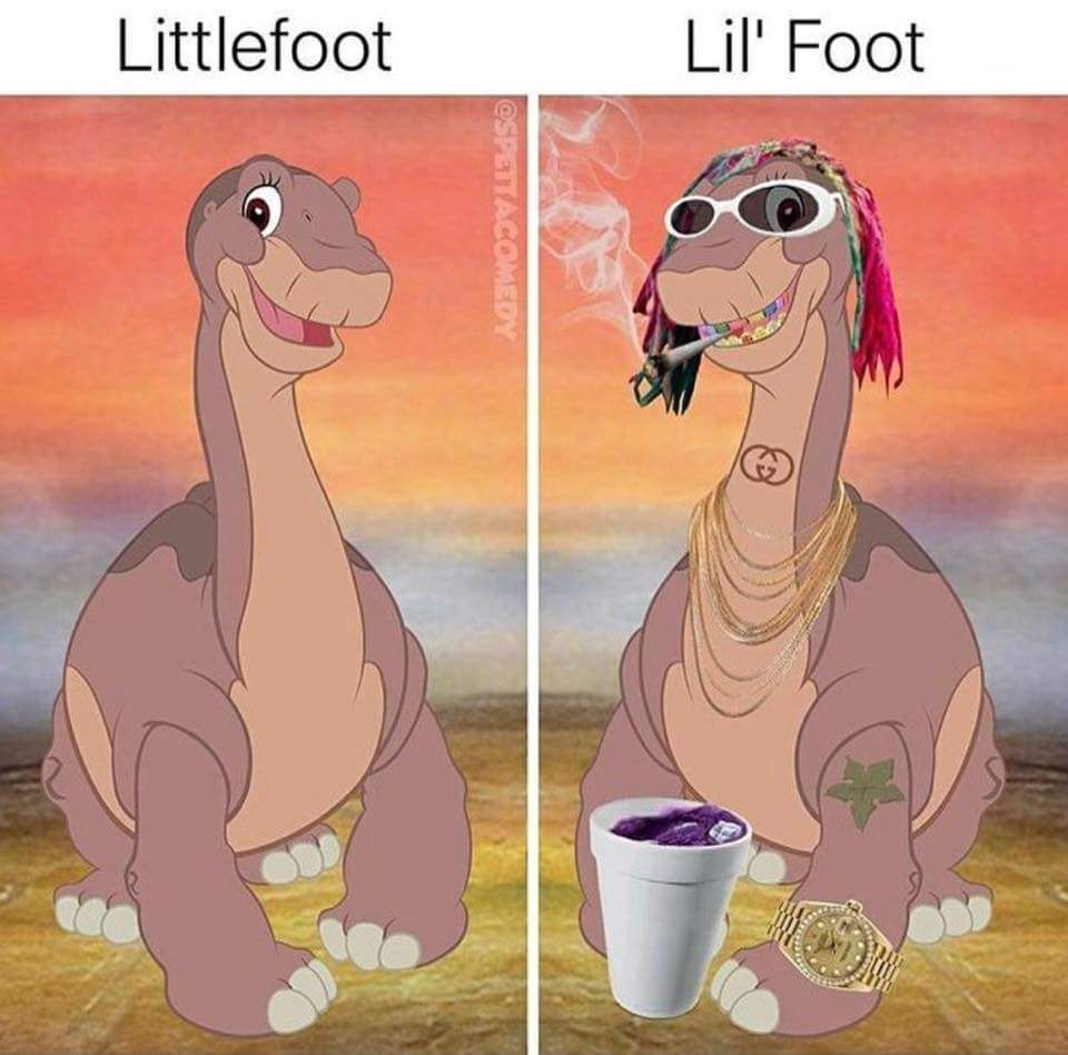 Littlefoot vs Lil' Foot