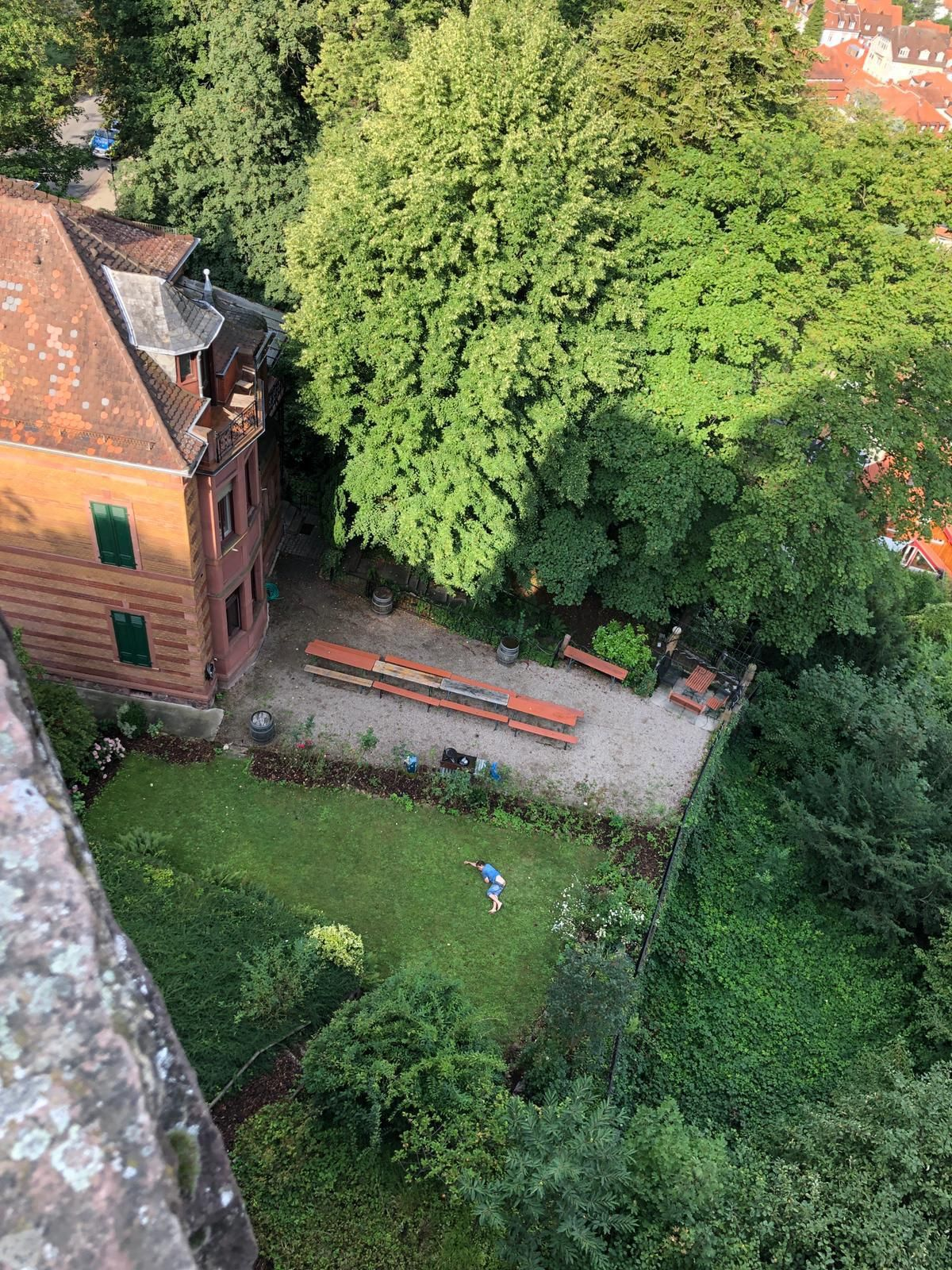 My parents are in Heidelberg, Germany visiting a castle which is next to a fraternity house. They just sent me this pic.