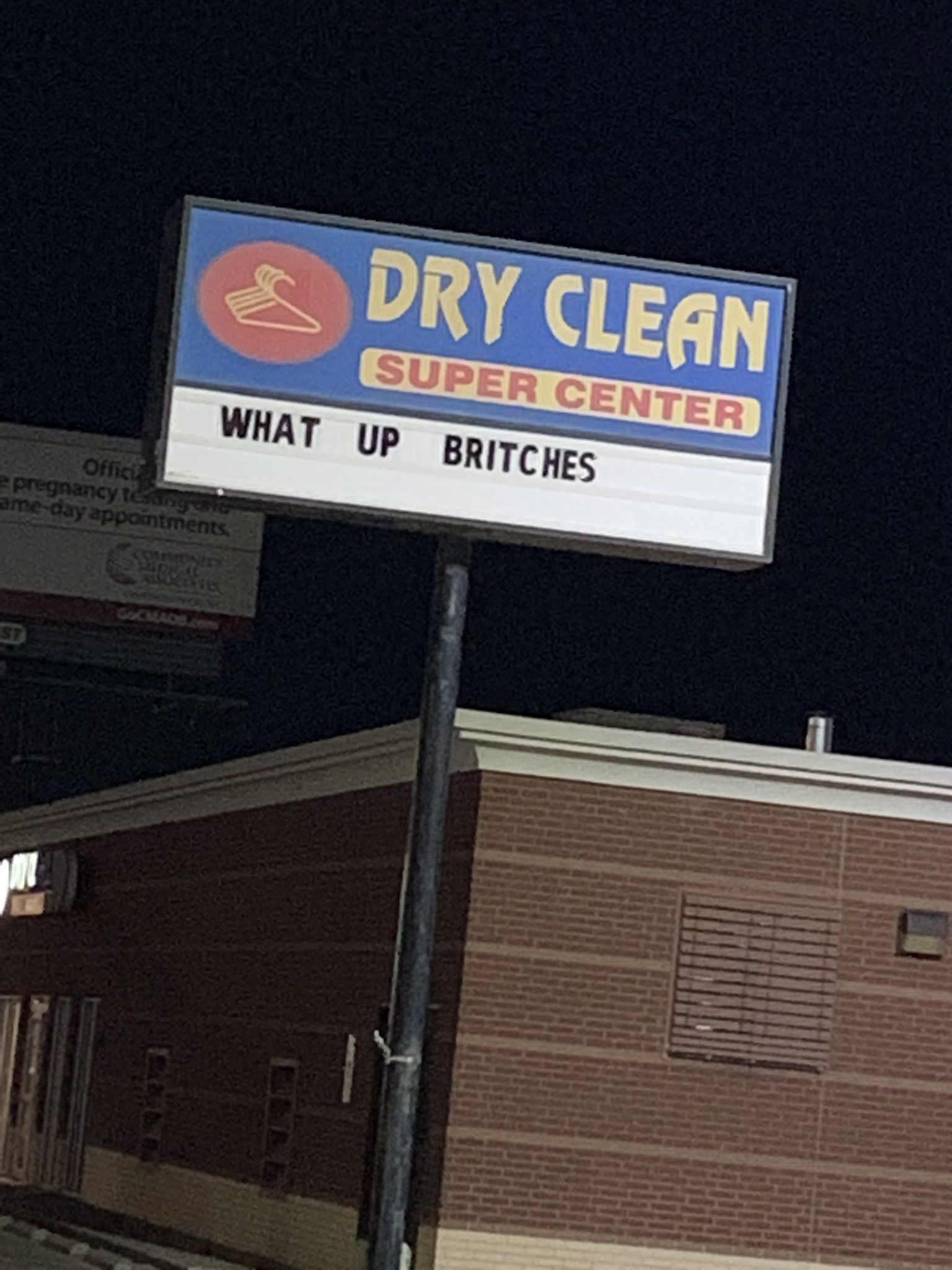 At the local dry cleaner