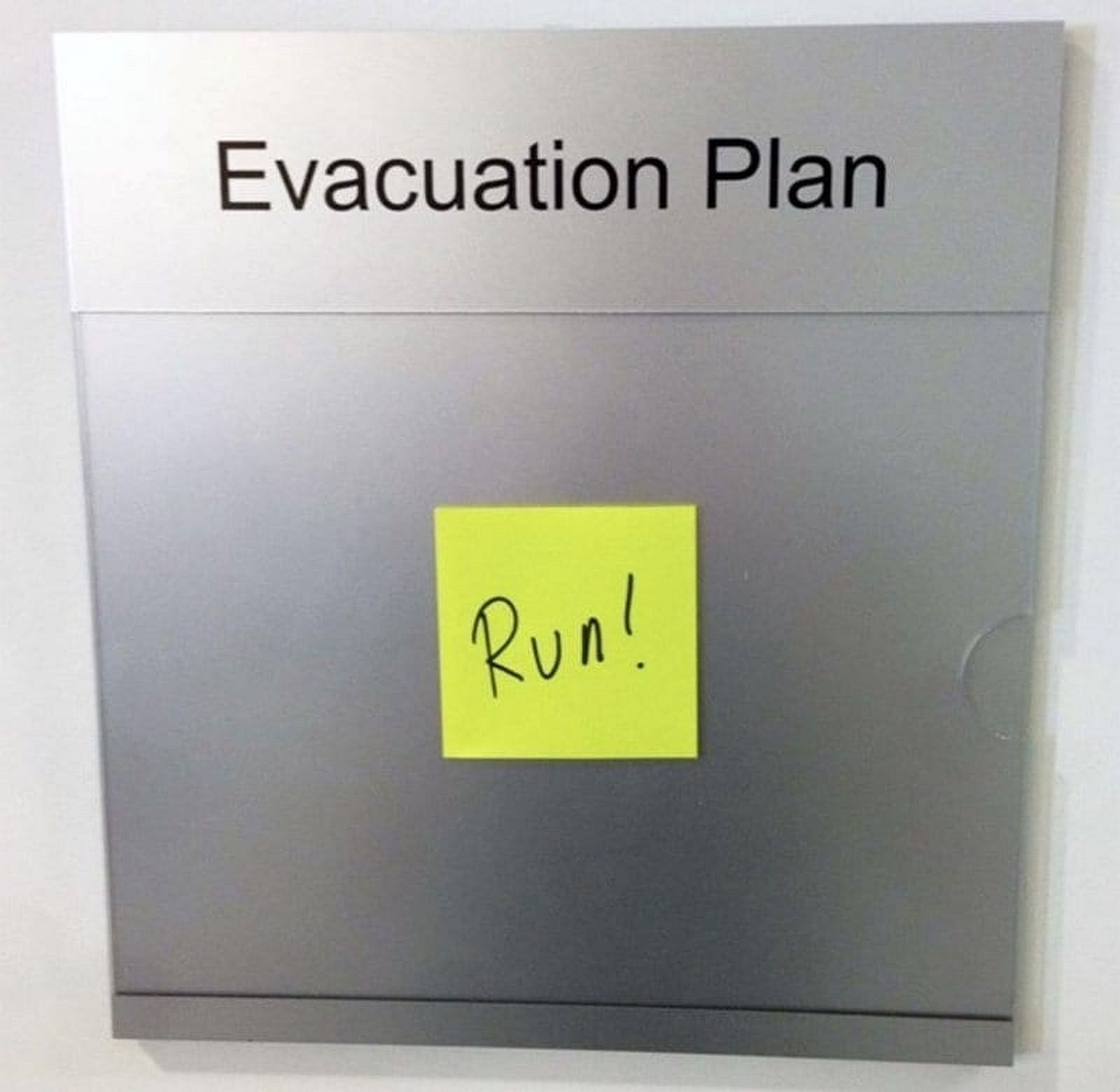 We updated our evacuation plan at work.
