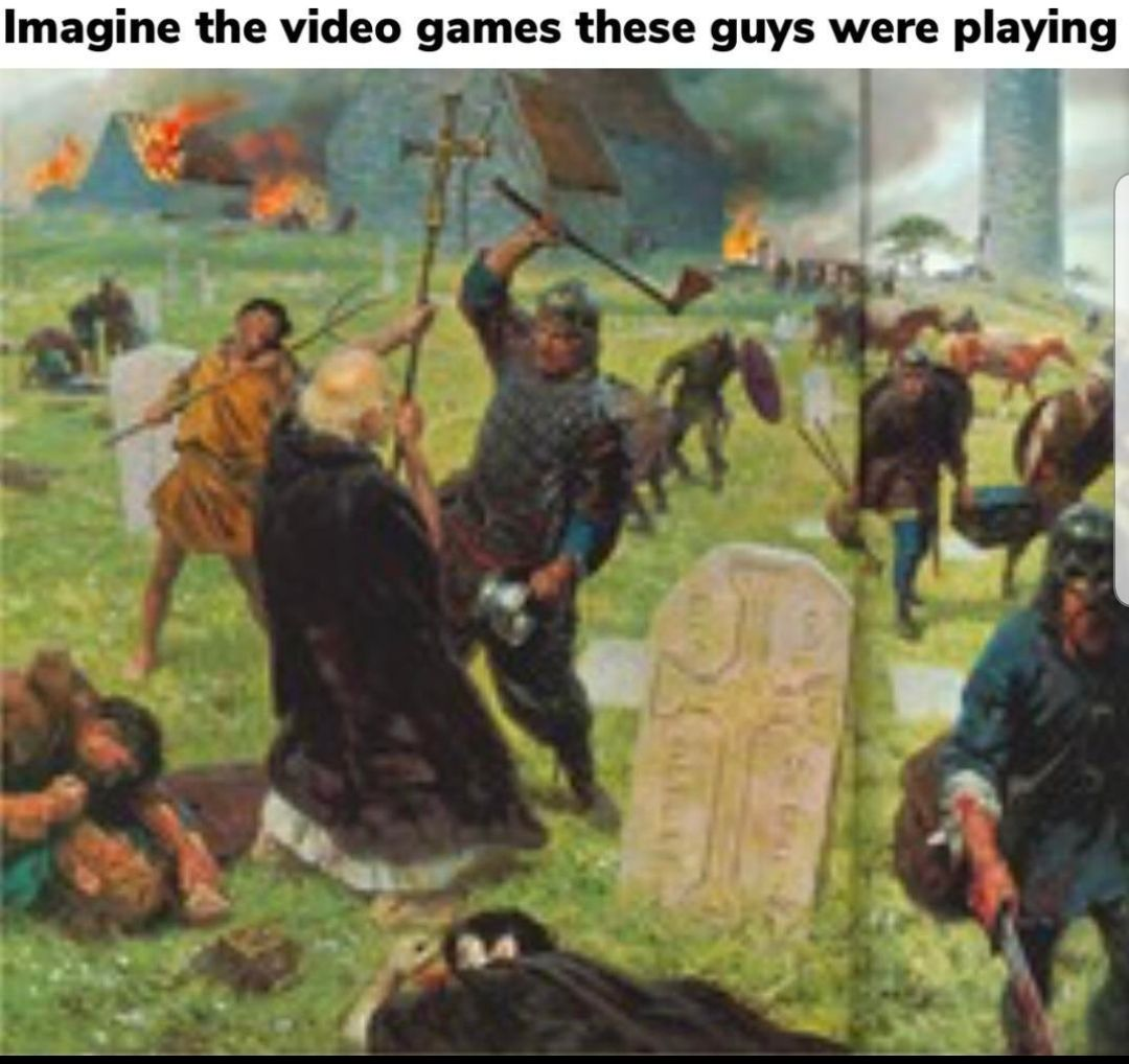 Video games... causing violence since the dawn of society
