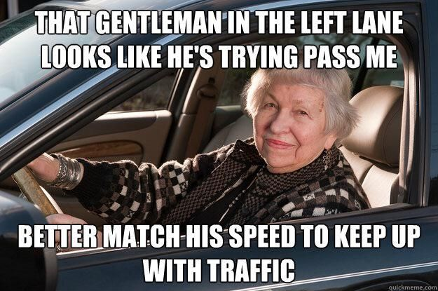 Every. Damn. Day. If you see a row of cars behind you, GET OVER!