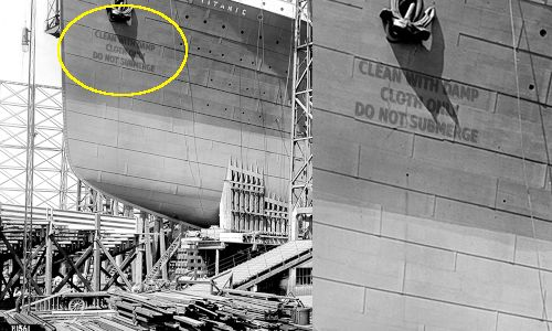 Titanic under construction in Belfast, 1911. I think I found the problem.