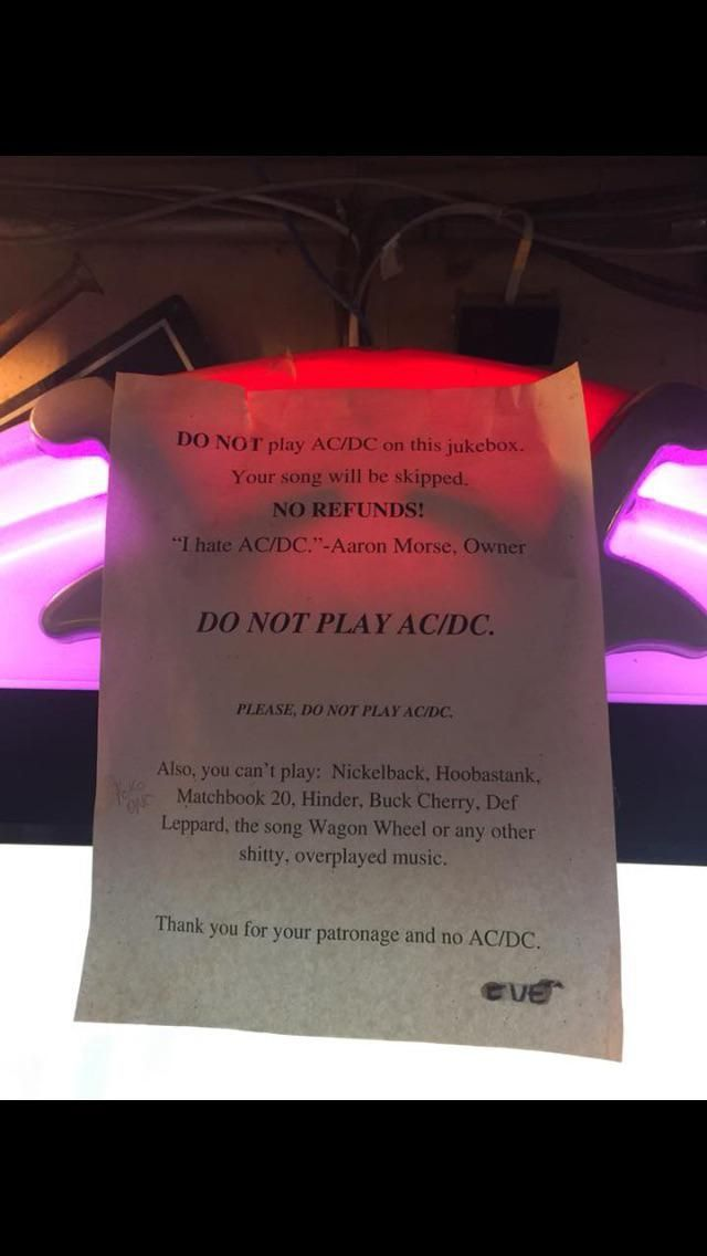 Random bar in Utah, loves AC/DC