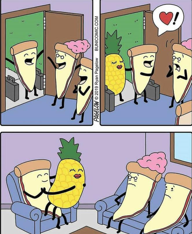 Pineapple on pizza...