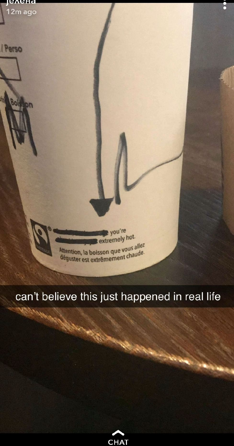 The barista did this to her coffee