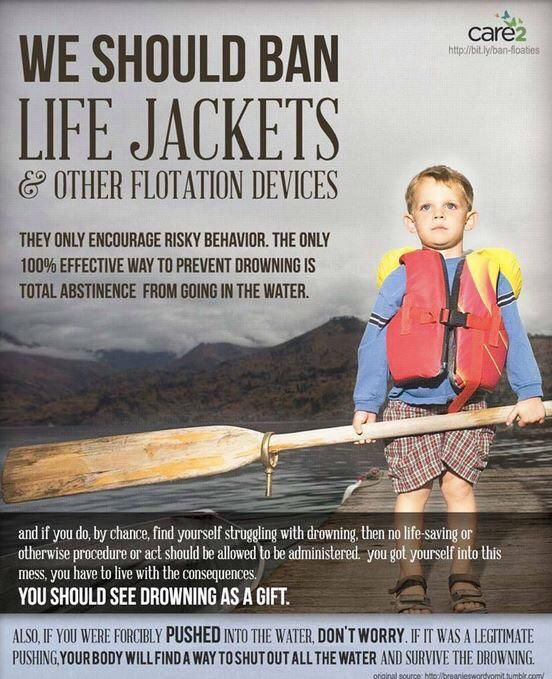 life jackets, eh...