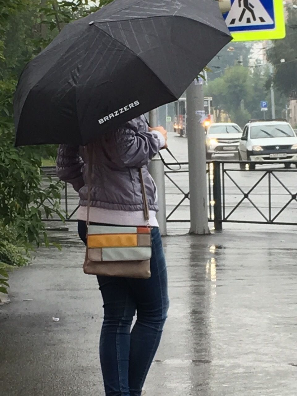 The moment you were paid with umbrella...