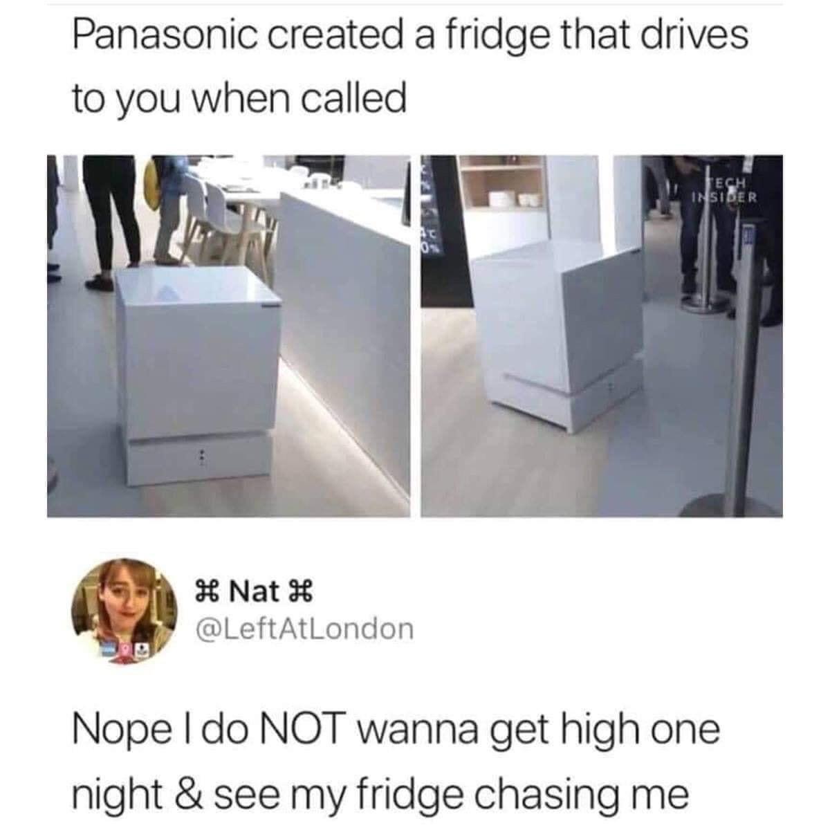 That fridge best stay where it is