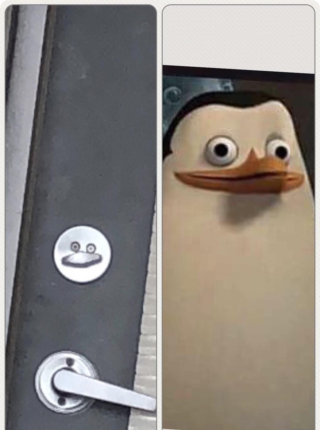 My lock looks like Private from Madagascar.