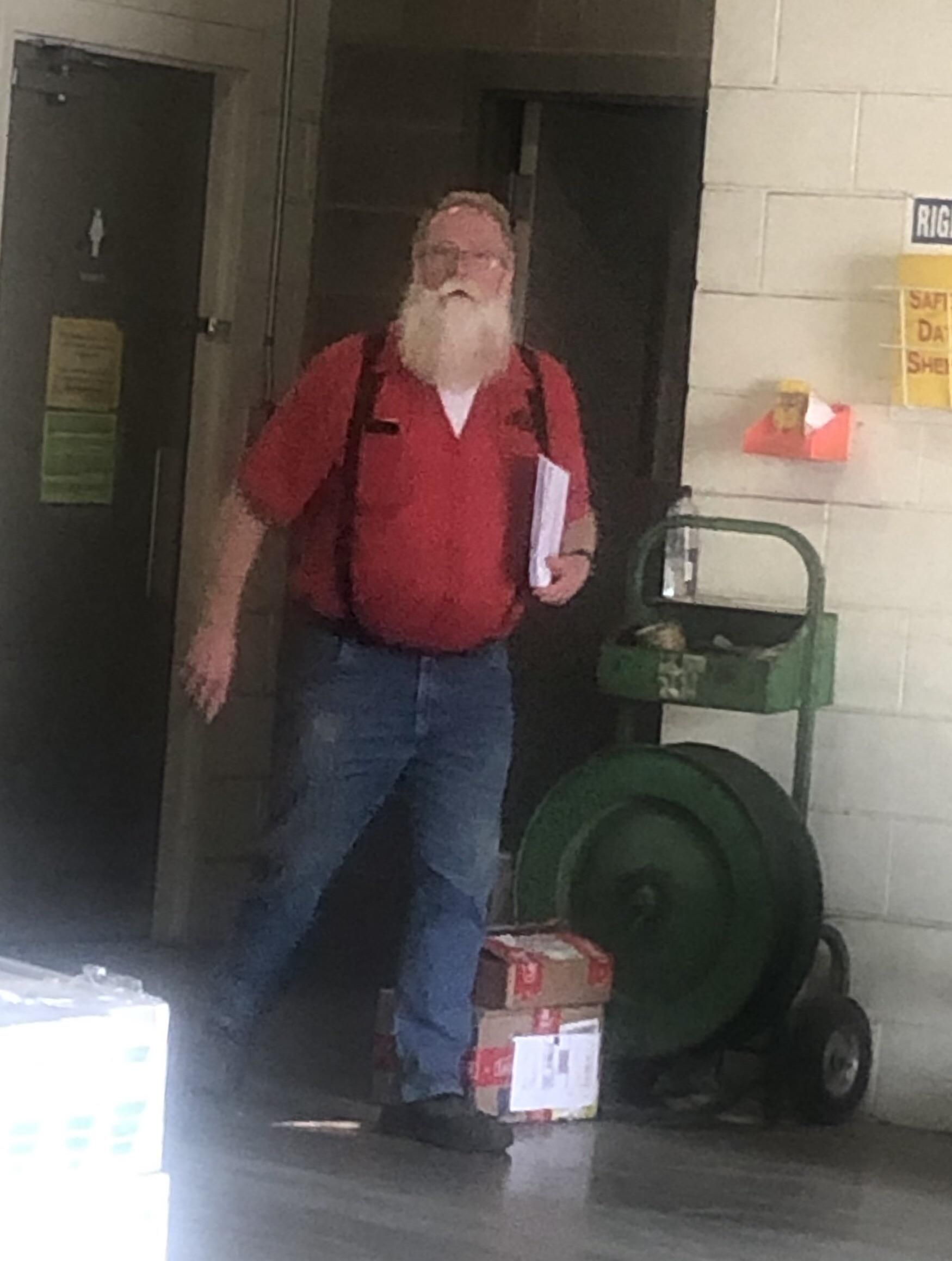 He's a truck driver the other 364 days of the year.