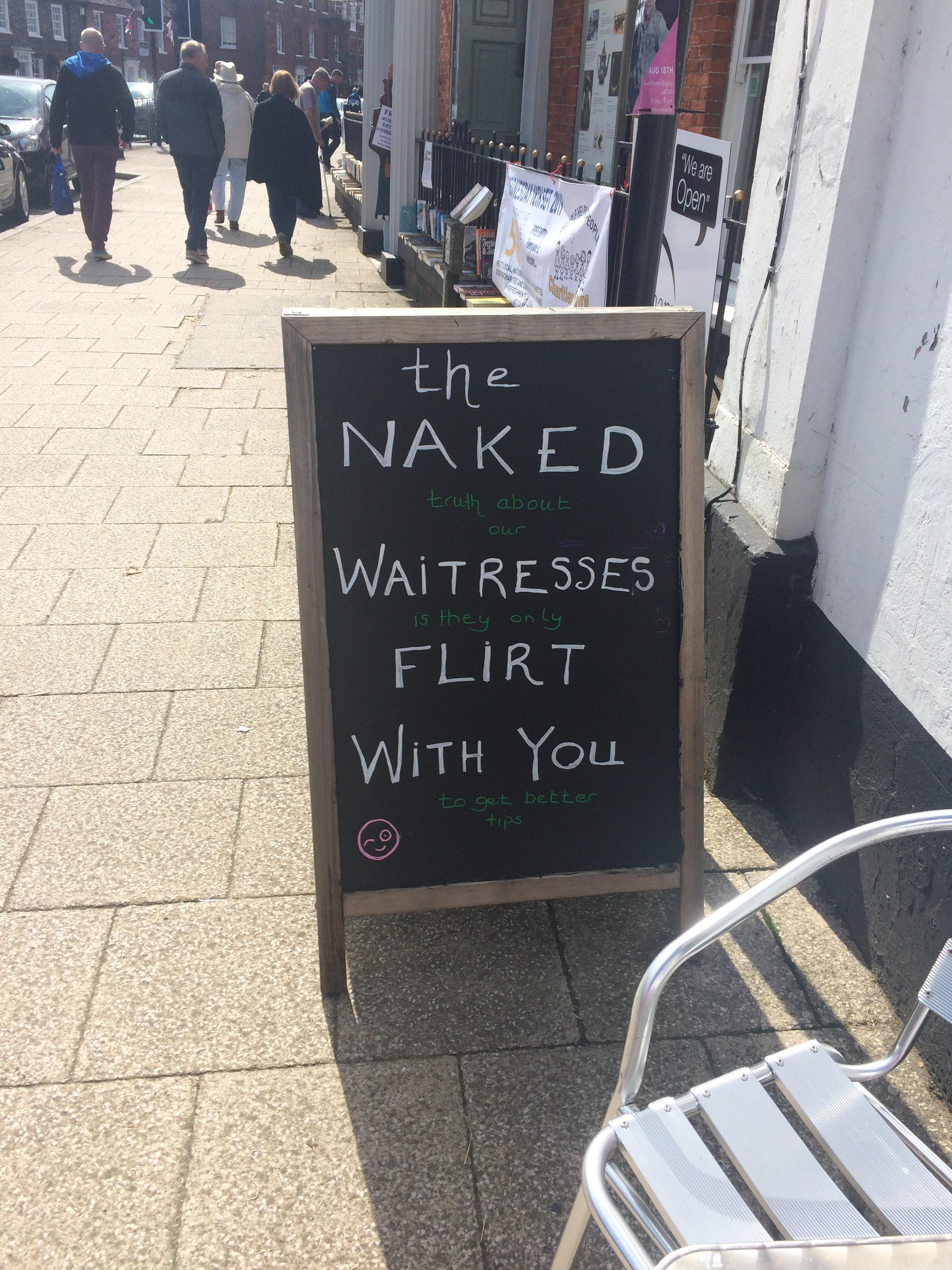 Found outside a local cafe
