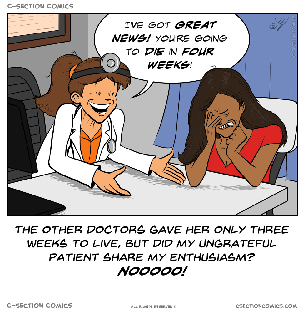 "A ""thank you doctor"" would be nice"