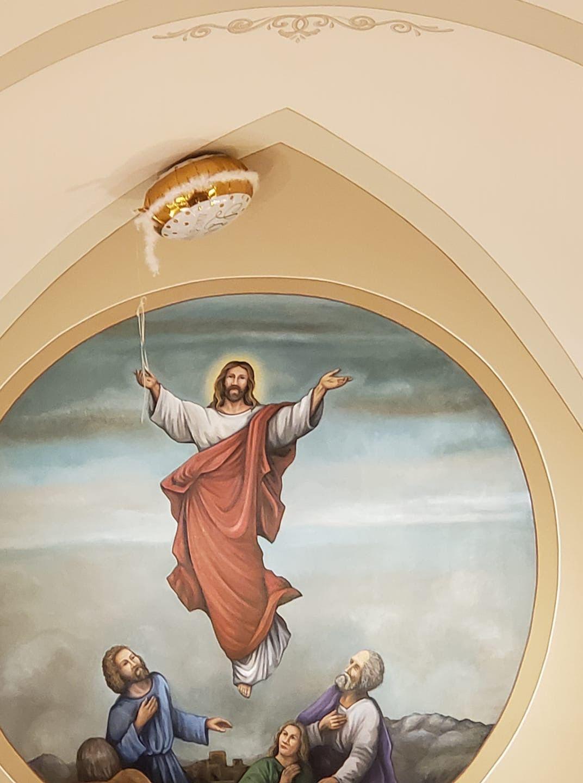 Jesus Christ, he's going to float away!