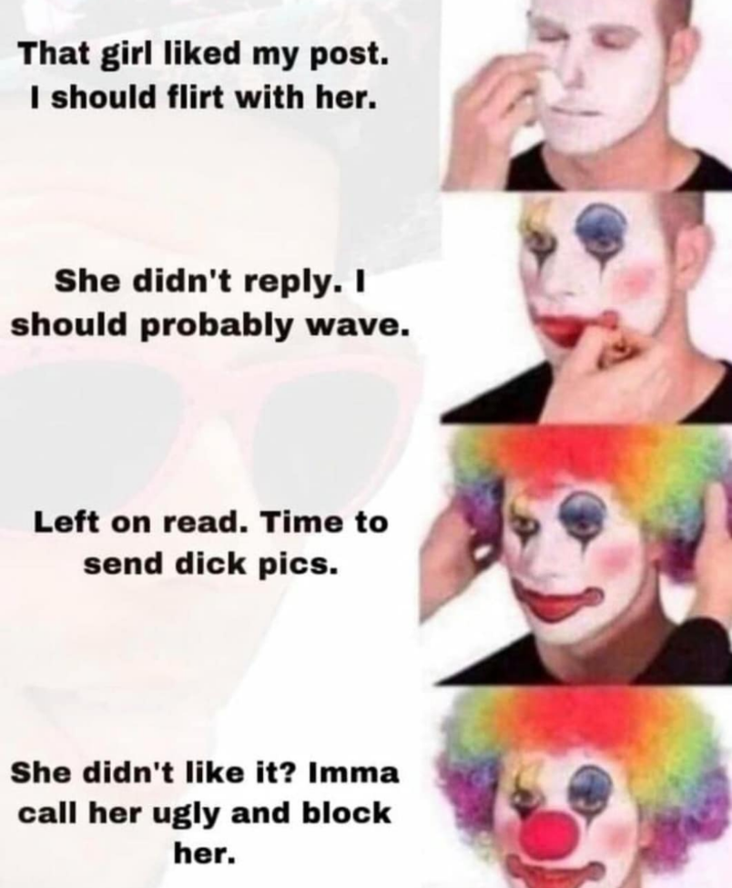 Lonely clown person