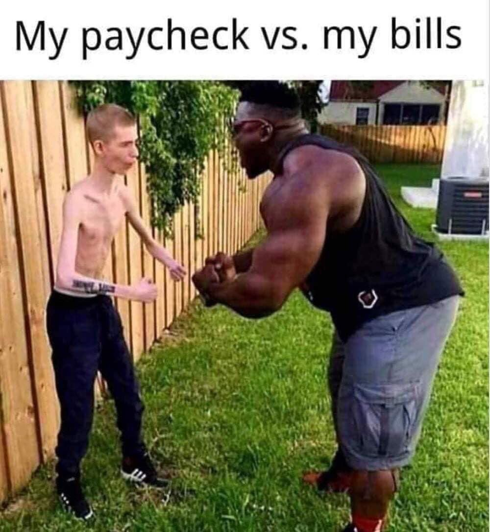 Paycheck vs Bills