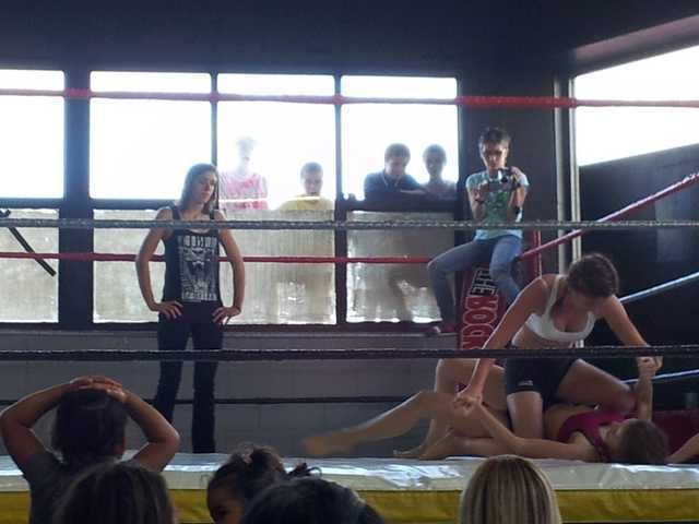 My sister does MMA at an all girls gym. The local kids turned up...