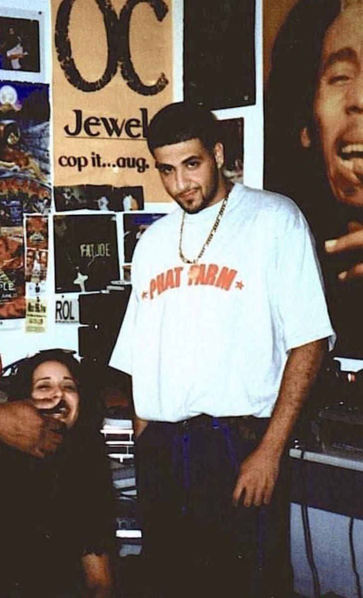 Is it just me or does young DJ Khalid look like the love child of Drake and Adam Sandler?