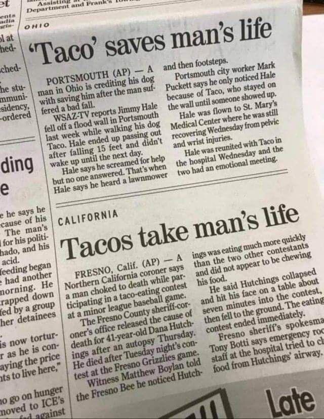 "Taco at ""it"" again"