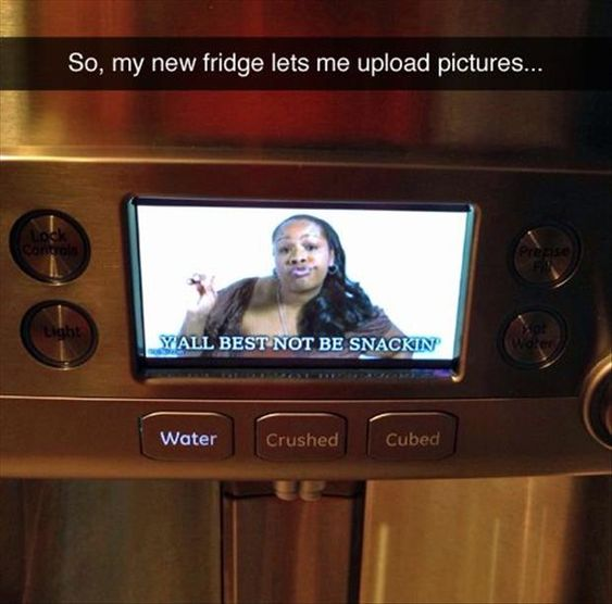Never thought I'd be shamed by a fridge