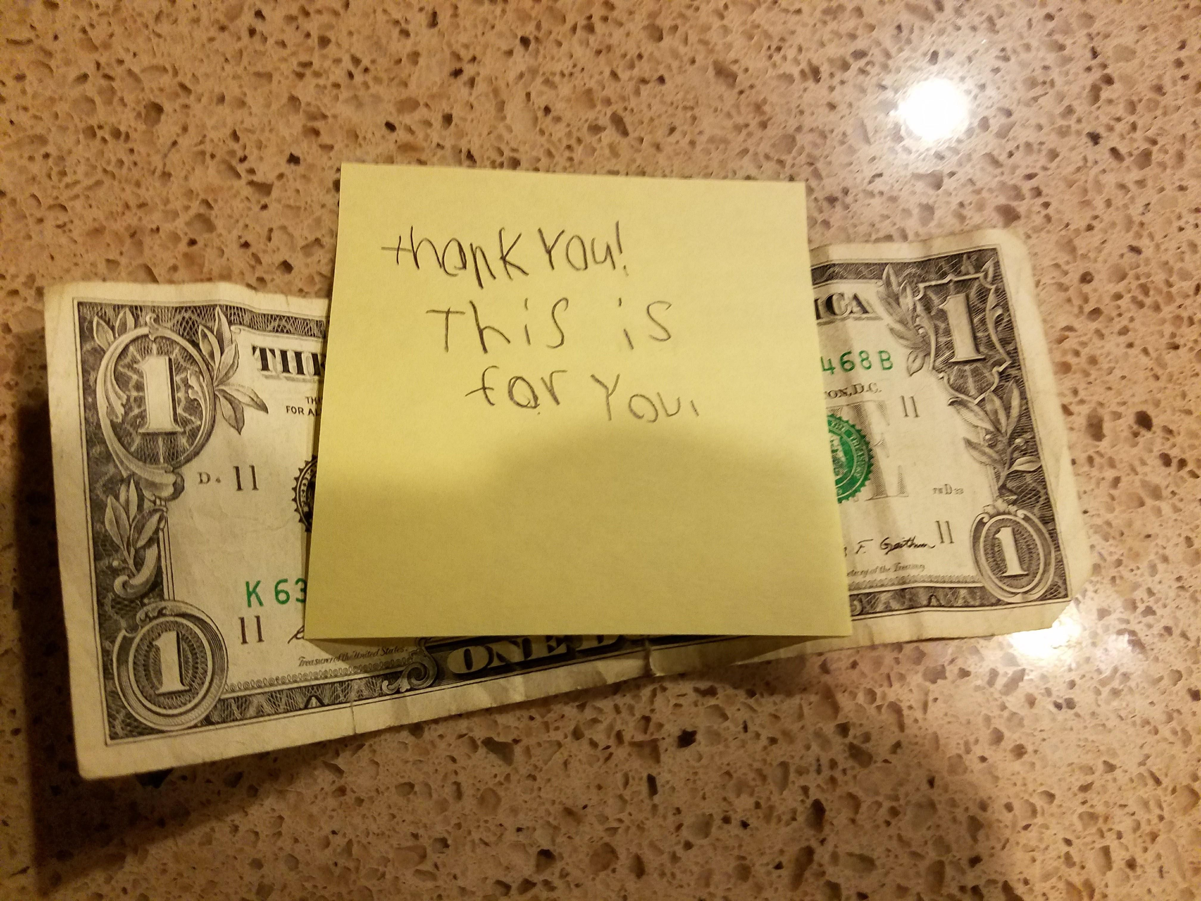 My son tipped the tooth fairy...