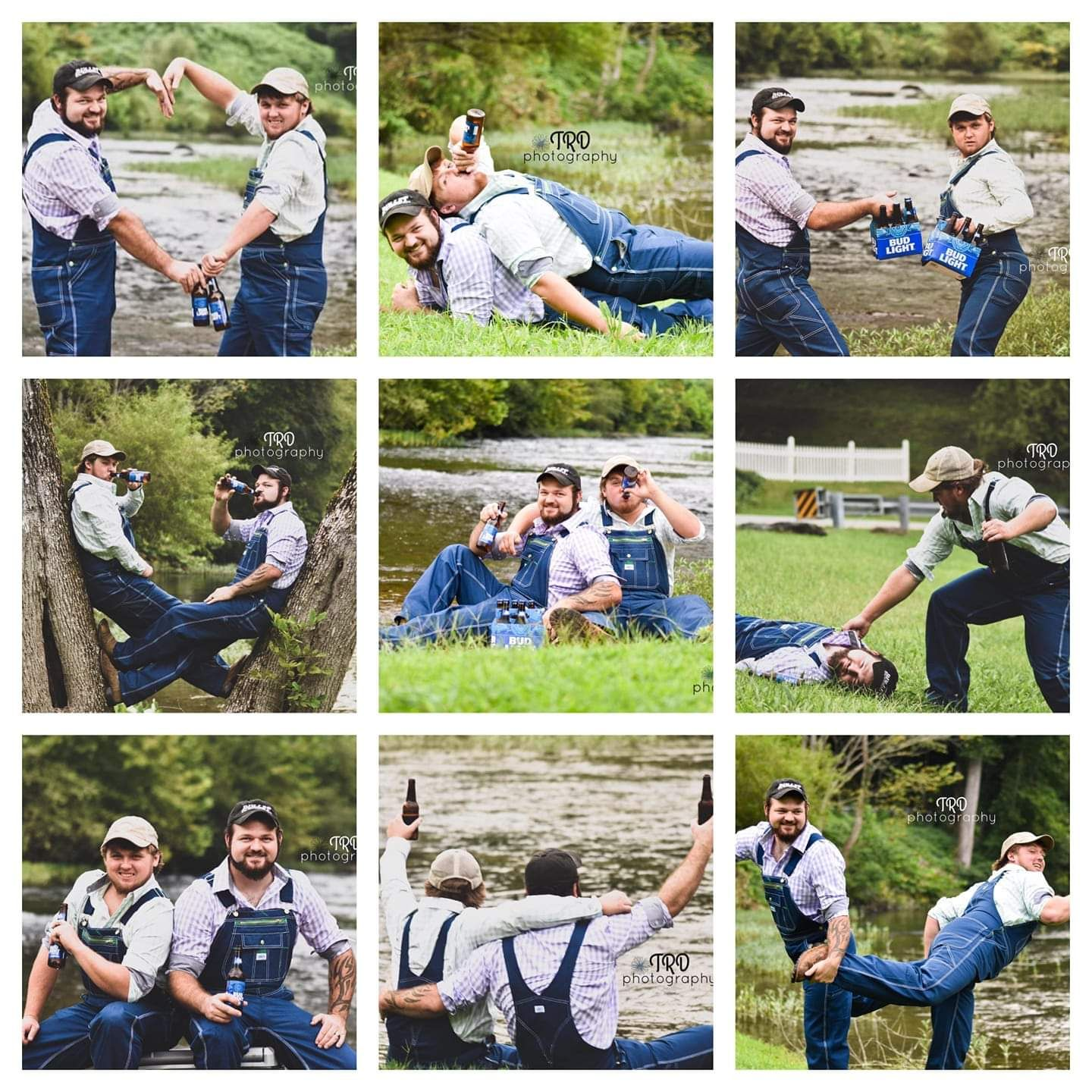Just two bros doing a best friends photo session after their wives had one