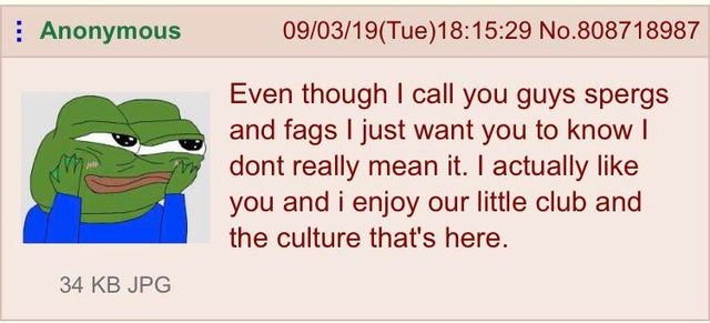 You spergs and fags