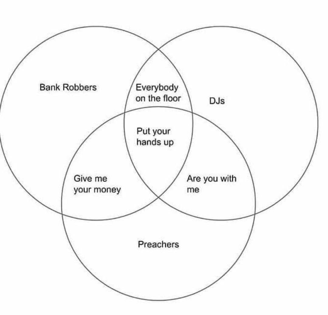 What's common between bank robbers, DJs and preachers?