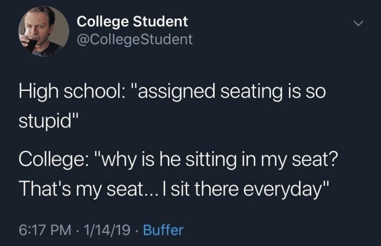 That's my seat