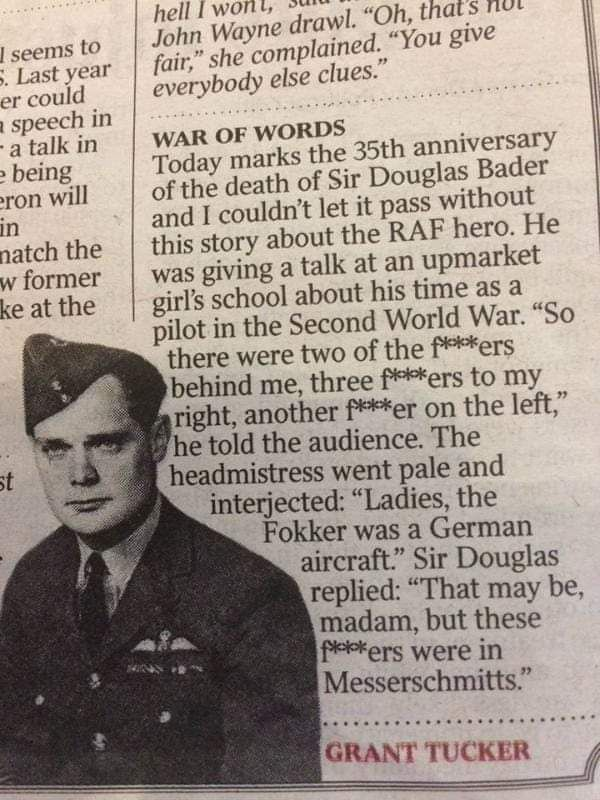 Interesting tale of WWII