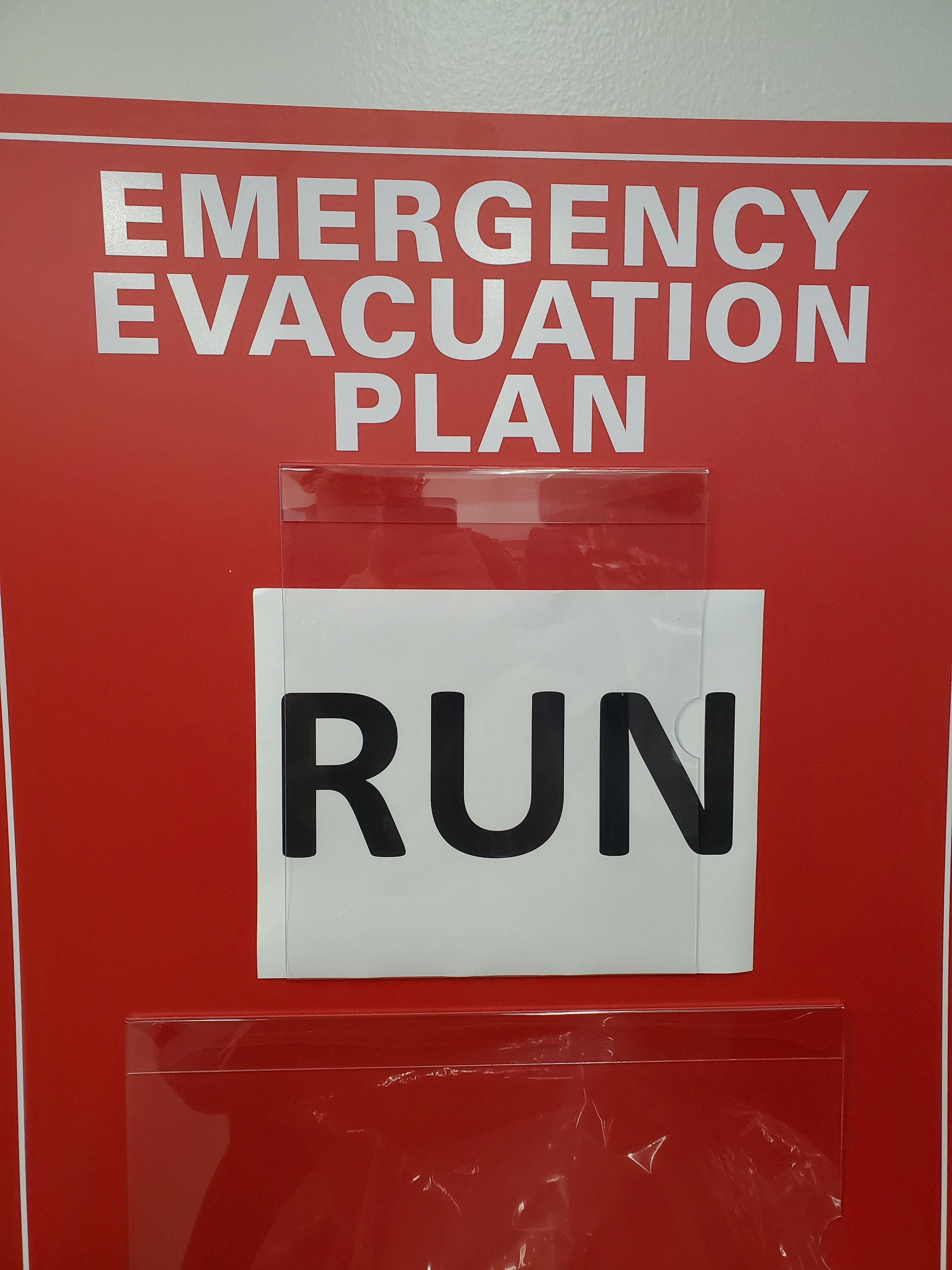 Our office evacuation plan