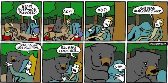 He couldn't bear it...