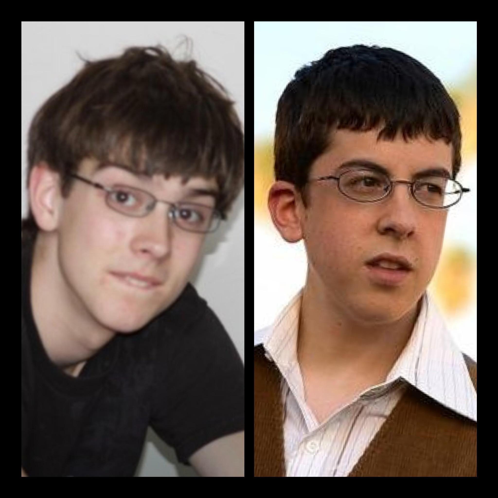 My boyfriend doesn't think he looked like McLovin as a kid.