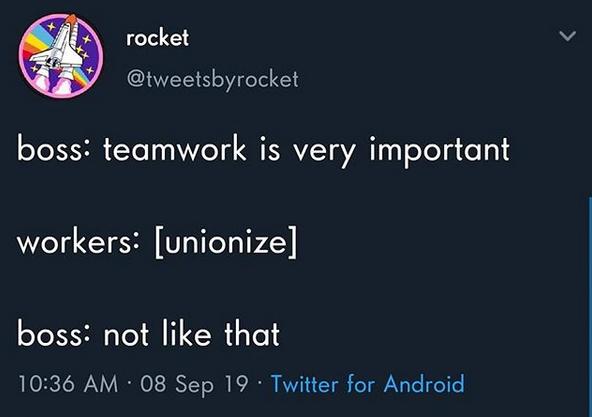 Unionize.