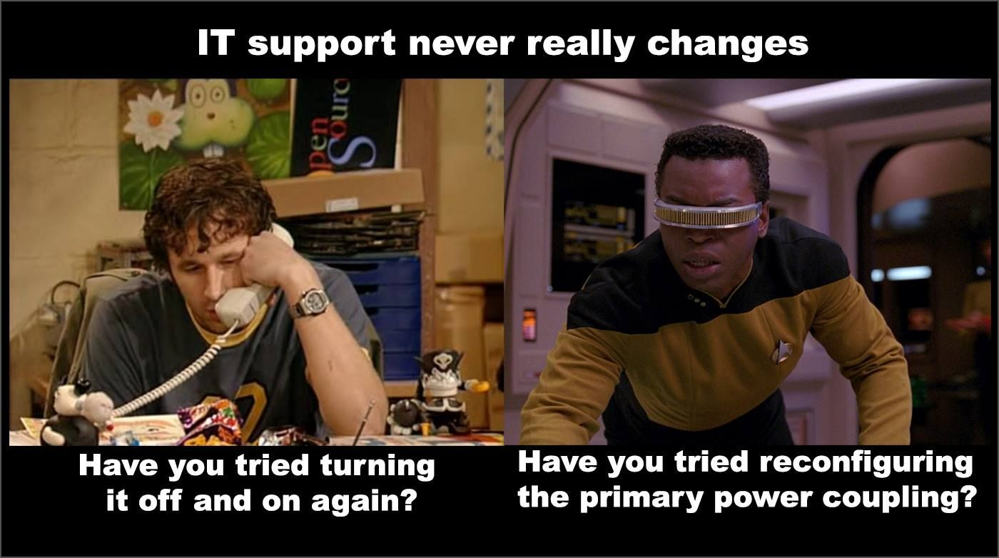 Tech Support: Now and forever.
